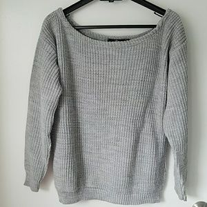 Missguided boatneck thick sweater